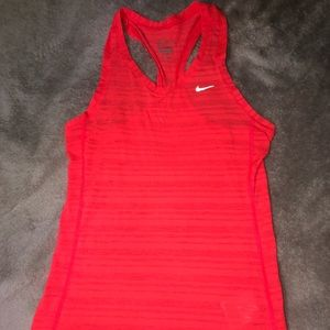 Reflective Red Nike Tank Top